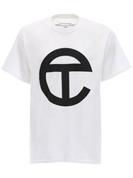 Telfar Logo Cotton Jersey T Shirt White