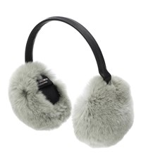 Yves Salomon Fur Ear Muffs Grey