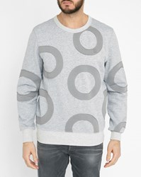 G Star Grey Ulchri All Over Pattern Round Neck Sweatshirt