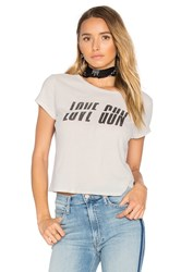 Mother The Crop Goodie Goodie Love Gun Tee White