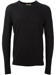 Burberry London Elbow Patch Jumper Black