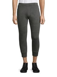 Neil Barrett Moto Jersey Cropped Track Pants Grey