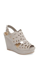 Chinese Laundry Women's In Love Wedge Sandal Smoke Grey Suede