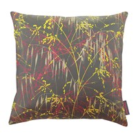 Clarissa Hulse Three Grasses Cushion 45X45cm Storm Neon Sulphur