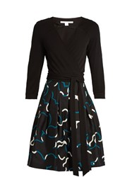 Diane Von Furstenberg Jewel Dress Black Multi
