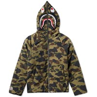 A Bathing Ape 1St Camo Shark Hooded Jacket Green