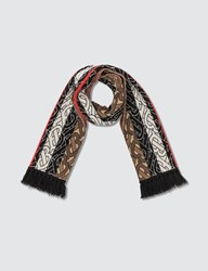 Burberry Cashmere Football Scarf Brown