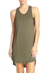 Leith Women's Racerback Cover Up Tank Dress Olive Sarma