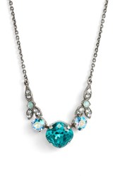 Sorrelli Decidedly Deco Crystal Necklace Blue Green