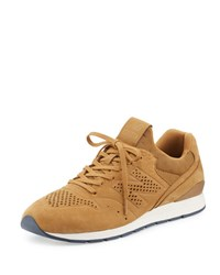 New Balance 696 Deconstructed Lace Up Sneaker Beige