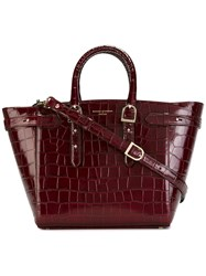 Aspinal Of London Double Handle Tote Bag Red