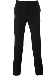 Balmain Side Stripe Slim Trousers Black