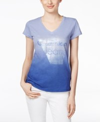 Calvin Klein Jeans Logo Graphic T Shirt Royal Blue