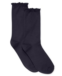 Hue Women's Lace Trim Socks Oxford Blue