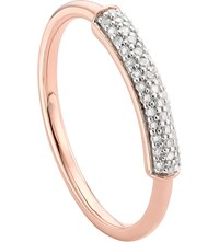 Monica Vinader Stellar 18Ct Rose Gold Plated Vermeil And White Diamond Ring