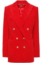 Bella Freud Woman Bianca Double Breasted Cotton Corduroy Blazer Red