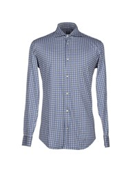 Fedeli Shirts Shirts Men Blue