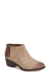Bc Footwear 'Union' Bootie Women Taupe Whiskey Faux Leather