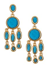 Karen Kane Baja Chandelier Earrings Blue