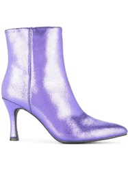 G.V.G.V. Glitter Ankle Boots Pink And Purple