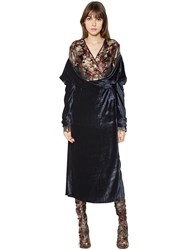 Act N 1 Silk Blend Brocade And Draped Velvet Dress