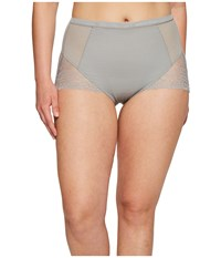 Spanx Plus Size Spotlight On Lace Brief Classic Grey Women's Underwear Gray