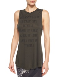 Haute Hippie 'One Must Learn' Strappy Back Sleeveless Tee