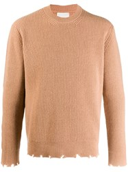 Laneus Destroyed Detail Jumper Brown