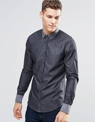 Boss Orange Shirt With Button Down In Slim Fit Black Black