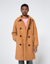 Ganni Fenn Coat Tobacco Brown