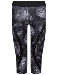 Adidas Stella Mccartney Black Floral 3 4 Running Tights