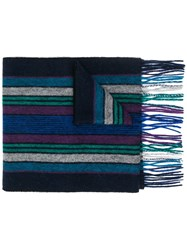 Paul Smith Ps Striped Scarf Black