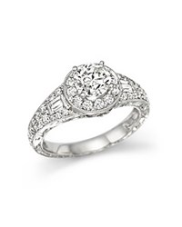 Bloomingdale's Certified Diamond Ring In 14K White Gold 1.90 Ct. T.W.