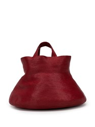 Rosie Assoulin Bucket Shaped Tote Red