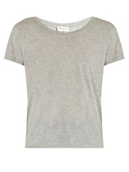 Saint Laurent Patch Pocket Cotton T Shirt Grey