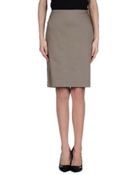 Germano Zama Knee Length Skirts Dove Grey