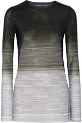 Norma Kamali Printed Stretch Jersey Top Gray