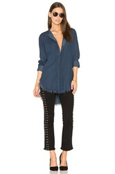 Nsf Mirabelle Button Up Blue
