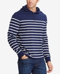 Polo Ralph Lauren Men's Big And Tall Striped Pima Cotton Hoodie Navy