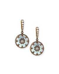 Mother Of Pearl And Diamond Flower Earrings Arunashi