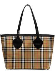 Burberry Nude The Medium Giant Cotton Vintage Check Tote Nude And Neutrals
