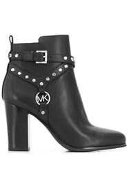 Michael Michael Kors Studded Ankle Boots Black
