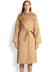 Max Mara Manuel Camel Hair Wrap Coat