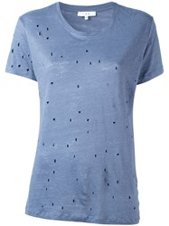 Iro Cut Out Detail T Shirt Blue