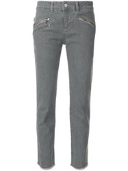 Zadig And Voltaire Ava Fitted Jeans Grey