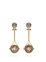 Elie Top Diamond Silver And Gold Pluton Earrings