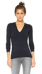 525 America Low V Neck Sweater Classic Navy