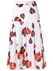 Andrea Marques Ruched Midi Skirt 60