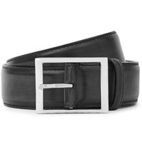 Berluti 3.5Cm Midnight Blue Leather Belt Midnight Blue