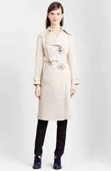 Women's J.W.Anderson Flower Button Waterproof Twill Trench Coat